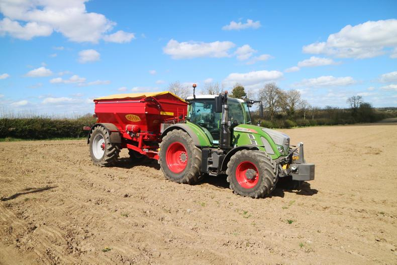 The Bredal F10 can carry 12t of fertiliser.