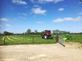 Grass keeps growing and the baler is out on Tullamore Farm