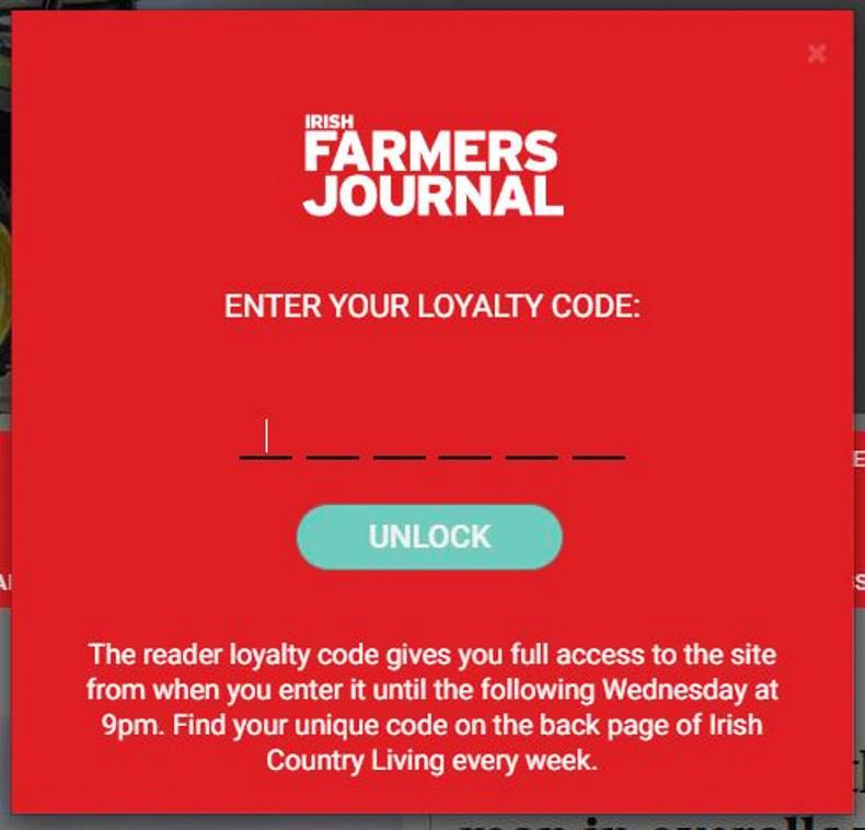 Use the code and get full access to farmersjournal ie - for free 08